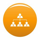 Leadership Icon. Simple Illustration Of Leadership Icon For Any Design Orange poster