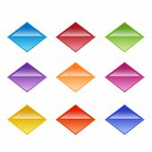 Vector Buttons Design Elements. Colorful Interface Navigation Buttons Web Icon Element. Bright Diamo poster