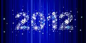 Christmas background with star inscription 2012, this illustration may be usefull to create greeting