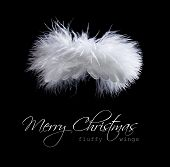 Flying Fluffy Christmas Angel poster