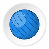 Blue Volleyball Ball Icon. Cartoon Illustration Of Blue Volleyball Ball Icon For Web poster