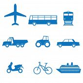 stock photo of transportation icons  - illustration of icons on transport - JPG