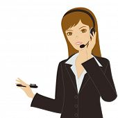 stock photo of cartoon character  - Business women - JPG