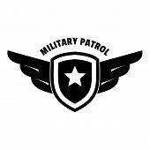 Military Army Patrol Logo. Simple Illustration Of Military Army Patrol Logo For Web Design Isolated  poster