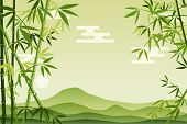 stock photo of rn  - Abstract Green Bamboo Background - JPG