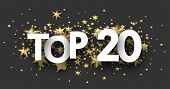 Top 20 Sign With Gold Stars. Rating Header. poster
