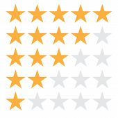 5 Star Rating Icon Vector Illustration Eps10. 5 Star Rating Sign On White Background. Flat Style. 5  poster