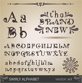 picture of swirly  - Swirly Alphabet - JPG
