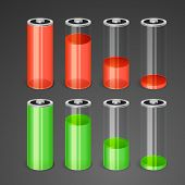 Batteries with different level of charge