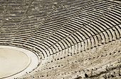 pic of epidavros  - Old theater in Epidaurus in Greece - JPG