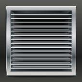 Photorealistic bathroom ventilation window. vector