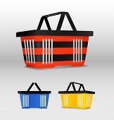 Shopping cart. Different colors