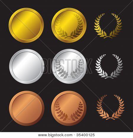 Set medals