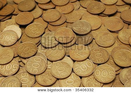 Scattered Coins Of Rupiah
