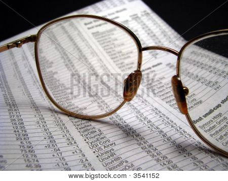Glasses With Paper