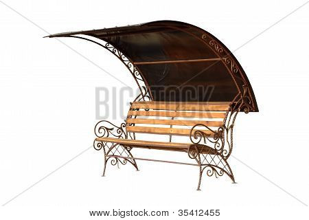 Pew With Protection From Sun And Rain.