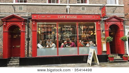 A Look At Cafe Rouge, York, England