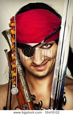 Sexy Handsome Male Pirate