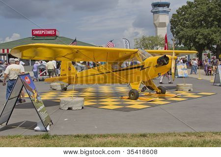 Piper Yellow Cub Airplane
