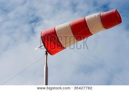 Windsock Against A Blue Sky