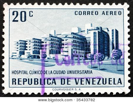 Postage stamp Venezuela 1956 University Hospital, Caracas