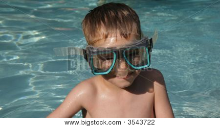 Boy In Swim Goggles