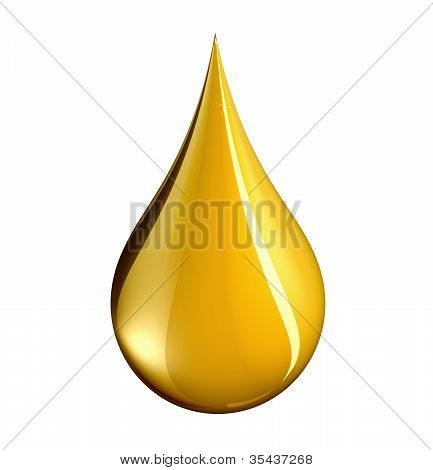 Drop Of Gold With Clipping Path