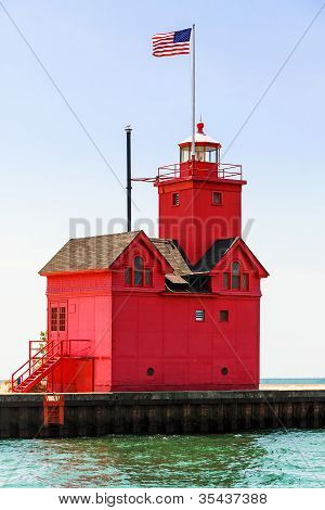 Holland Big Red Lighthouse