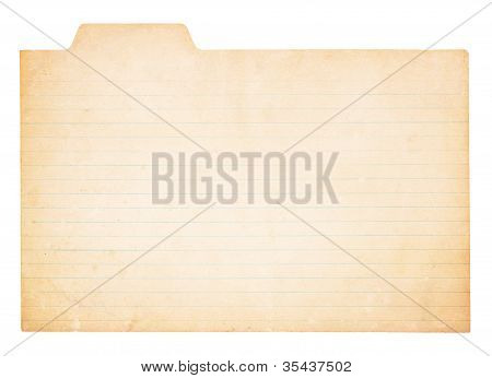 Vintage Tabbed Index Card