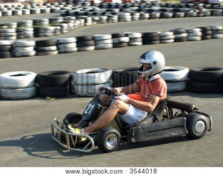 Go Kart In Action