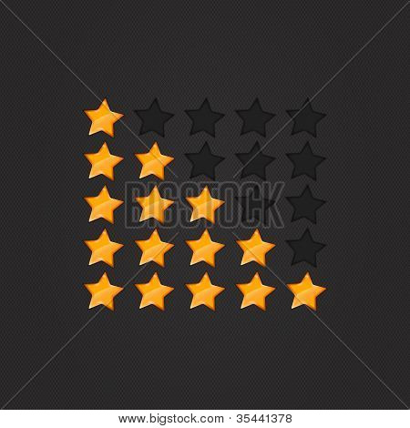 Glossy Rating Stars orange
