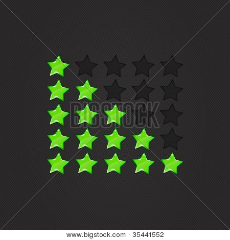 Glossy Rating Stars green