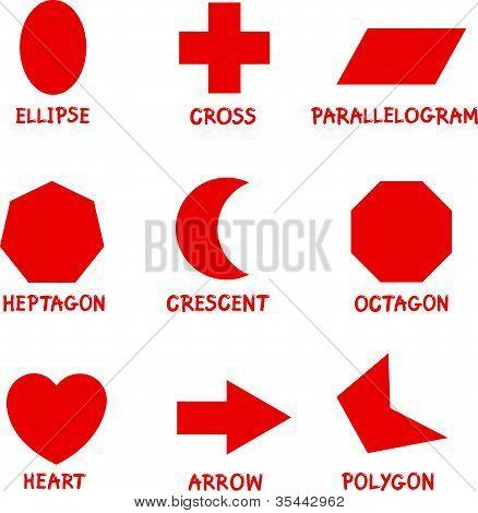 Formas geométricas básicas con subtítulos