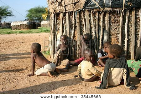 Samburu Children in Kenya, Africa