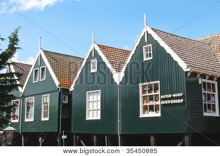Gift Shop On The Island Of Marken. Netherlands