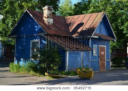 Old small country wooden house