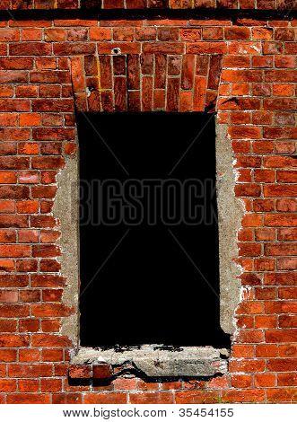 A Window On A Brick Wall