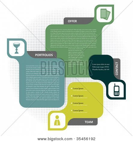 Vector color background concept design for brochure or website