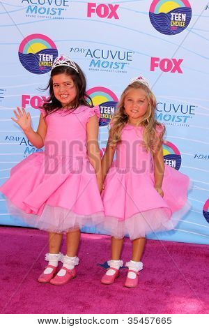 LOS ANGELES - JUL 22:  Sophia Grace Brownlee, Rosie McClelland arriving at the 2012 Teen Choice Awards at Gibson Ampitheatre on July 22, 2012 in Los Angeles, CA