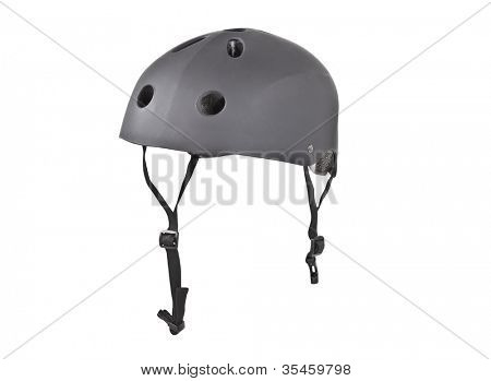 Tough skater crash helmet isolated with clipping path.