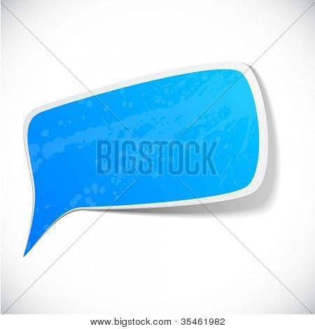 Vector illustration of Blue paper splash speech.