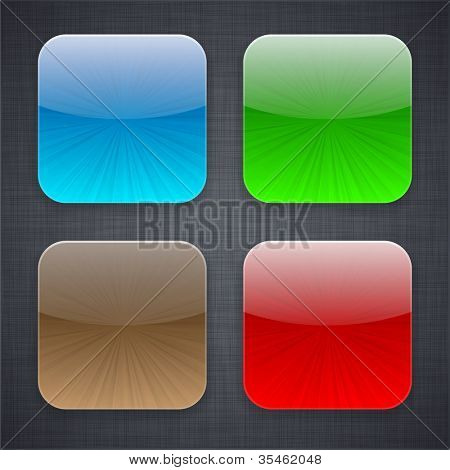 Vector illustration of high-detailed apps icon templates.