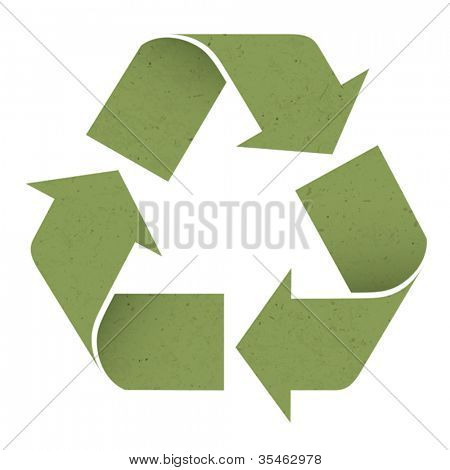 Green reuse symbol, isolated on white. Vector, EPS10