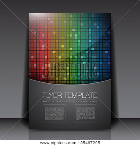 Rainbow Squares - Flyer Template Vector Design
