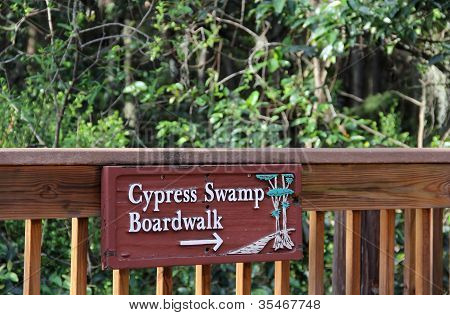 Cypress Swamp Boardwalk Sign