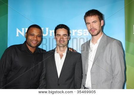 LOS ANGELES - JUL 24:  Anthony Anderson, Jesse Bradford, Zach Cregger arrives at the NBC TCA Summer 2012 Press Tour at Beverly Hilton Hotel on July 24, 2012 in Beverly Hills, CA