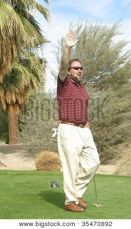 PALM SPRINGS - FEB 7: Richard Karn at the 15th Frank Sinatra Celebrity Invitational Golf Tournament at Desert Willow Golf Course on February 7, 2003 in Palm Springs, California
