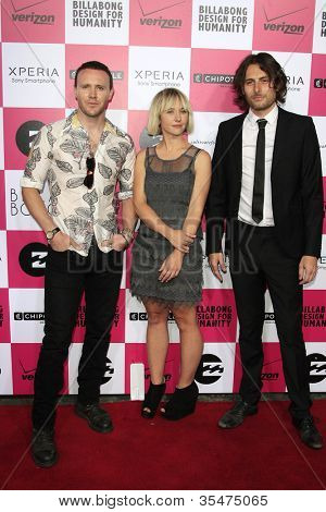LOS ANGELES - JULY 25: Joy Formidable at Billabong's 6th Annual Design For Humanity Event at Paramount Studios on July 25, 2012 in Los Angeles, California