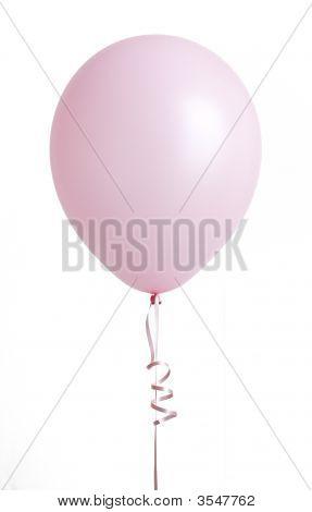 Pink Balloon On White