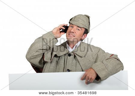 Man dressed as Sherlock Holmes